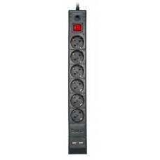 Сетевой фильтр 1.8m 6 розеток + 2 USB buro BU-SP1.8_USB/B (новый)