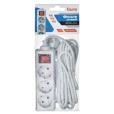 Сетевой фильтр 5.0m 3 розетки BURO 300SL-5-G (новый)