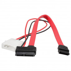Кабель Slimline SATA to SATA 7P and molex