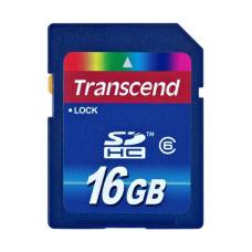Карта памяти SDHC 16 Gb Transcend class6