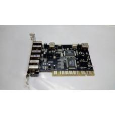 Контроллер PCI USB 2.0 x4 / IEEE 1394 x2 SIMT107B