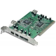 Контроллер PCI USB 2.0 x2 / IEEE 1394 6p x2 TRENDnet TFU-H33PI