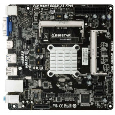 Материнская плата FCBGA 1170 BIOSTAR J1800NH2 VER:6.2 DDR3L x2/PCI-E/PS-2 x2/VGA/HDMI/USB 3.0/USB 2.0 x4/LAN/SB/mini-ITX (новая)