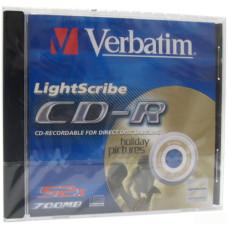 Диск CD-R 12 см Verbatim LightScribe 700 Mb (новый)