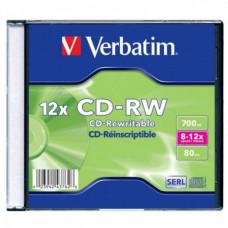 Диск CD-RW 12 см Verbatim 700 Mb (новый)