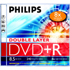 Диск DVD+R 12cm Philips 8,5 Gb (новый)