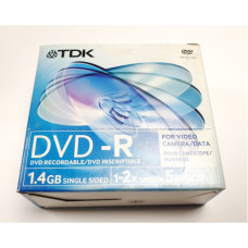 Диск mini DVD-R 8 см TDK 5 pack / 1.4 Gb (новый)