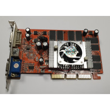 Видеокарта AGP 128 Mb GeForce FX5500 PALIT 128 bit DDR DVI/VGA/TV-out