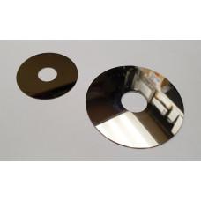 Детали от жесткого диска и дисковода (зеркальный диск, металлические кольцо и трубочка)