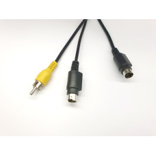 Кабель S-Video (7 pin) to RCA and S-Video (4 pin)