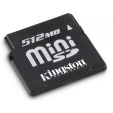 Карта памяти miniSD 512 Mb Kingston