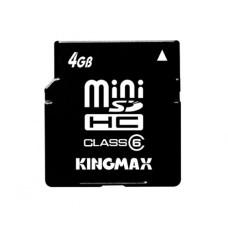 Карта памяти miniSDHC 4 Gb KINGMAX class6