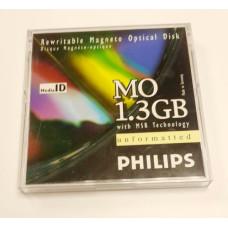 Магнитооптический диск Philips MO 9 см / 1,3 Gb / box (новый)
