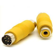 Переходник S-Video (Mini DIN 8 pin) to RCA (новый)