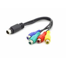 Переходник S-Video (7 pin) to RCA x4