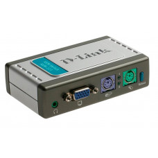 KVM переключатель D-Link KVM-121 (2 port, VGA, PS/2, 3.5 Jack)