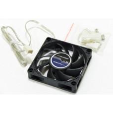 Вентилятор 70x70x15mm Sunbeam SF7015BB-3700 (3pin + переходник на molex) новый
