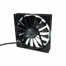 Cooler 140х140х25mm AeroCool Shark Fan Black Edition (3pin + переходник на molex) новый