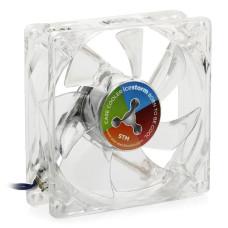 Вентилятор 80x80x25mm STM CCL-80 LED Color (3pin) новый