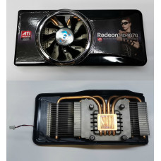 Охлаждение для видеокарт (2pin) AL+Медь ATI Radeon premium graphics