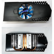 Охлаждение для видеокарт (4pin PWM) AL+Медь HIS (шумит)