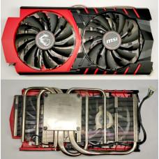 Охлаждение для видеокарт крепление 60x60 mm (2 coolers/4pin PWM) AL+Медь MSI