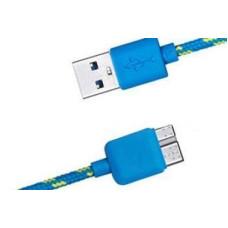 Кабель USB 3.0 to micro USB 3.0 1.0m (тканевый) новый