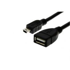 Переходник OTG mini USB to USB 2.0 (15 cm) Cablexpert