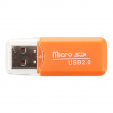 Card Reader USB 2.0 для microSD (Orange)