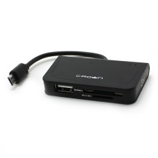 Card reader USB 2.0 Crown CMCR-B13 (SD, microSD, USB 2.0) новый