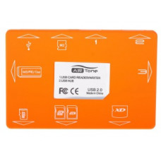 Card Reader USB 2.0 + USB HUB AIR Tone orange (M2/Micro SD/MS/SD/SDHC/xD-Picture Card)