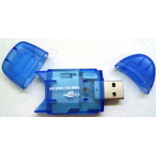 Card Reader USB 2.0 SD/MMC/RS-MMC (Blue)