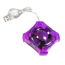 USB 1.0 HUB 4 port (Purple) 40cm