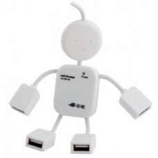 USB 2.0 HUB 4 port PC PET Human (White)